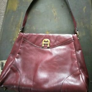 Vtg classic leather AIGNER shoulder bag